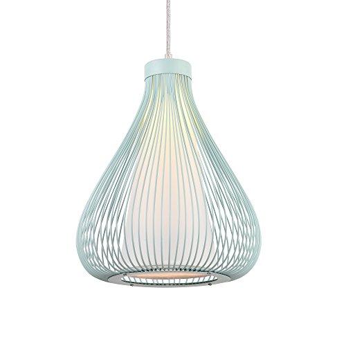 [lux.pro] Metall-Korb Hängeleuchte Nizza Zartblau E27 Deckenleuchte Leuchte Pendelleuchte (Zimmer Für Lampenschirm)