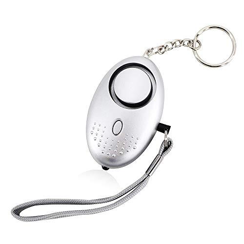 LJ2 Persönlicher Alarm-Schlüsselbund, Notfallalarm für Laute Lautstärke mit LED-Licht und...