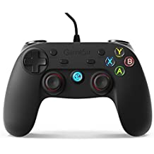 GameSir G3w - Mando con Cable de Vibración Doble, Conectado por Cable para PC (Windows 7/8/10) & PS3 & Android (Smartphone / Tableta / Smart TV / TV Box)