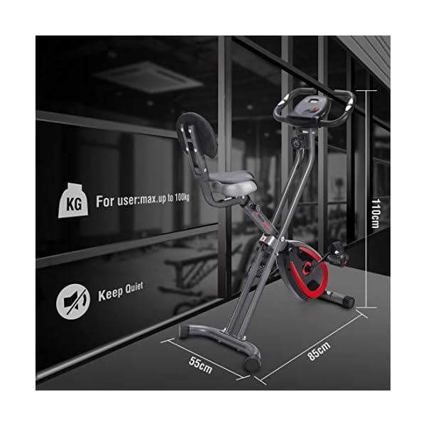 Ultrasport Unisex F-Bike Advanced Exercise Bike, Display LCD, Home Trainer Pieghevole, Livelli di Resistenza Regolabili… 10 spesavip