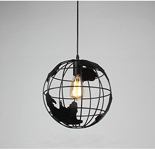 GTB Die neuen Nordic kreative Schmiedeeisen Kronleuchter Globe Barstaender , black