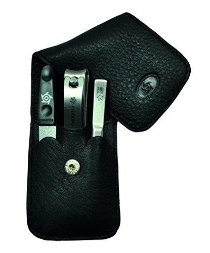 Pfeilring Trousse, nappa, noir, 3 pièces. manucure, multicolore, Taille unique
