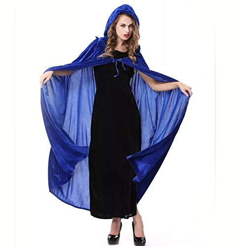 Edelehu Tradition Halloween Kostüm Tunika Hooded Robe Kapuzenmantel Hexen Cape Medieval Kapuzen-Party-Ausrüstung
