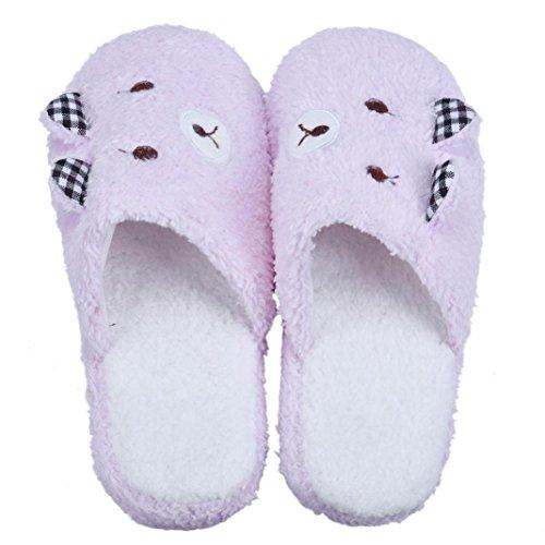 Amlaiworld Orsacchiotto Pantofole Inverno Rosa Di Cotone Casa Bello Di Pistoni Felpa Scarpe Terreno Di Pantofole ZwqxTnI4B