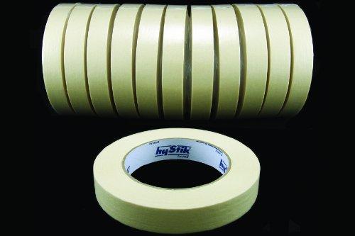12 Rollen PREMIUM Malerkrepp Klebeband - 19 mm - 50 m - 80° - Flachkrepp - Kreppband - Abdeckband - Malerkreppband - PROFI Qualität