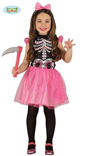 rosa Skelett Tütü Kleid für Mädchen Skelettkostüm Gr. 98-146, (Freche Halloween Kostüme Mädchen)