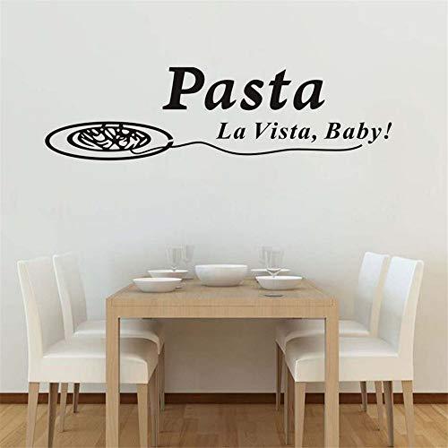 Zxfcczxf Pasta La Vista Baby Vinyl Wandkunst Aufkleber Zitate Wasserdichte Kunst Aufkleber Küche Wand Fliesenaufkleber Dekoration