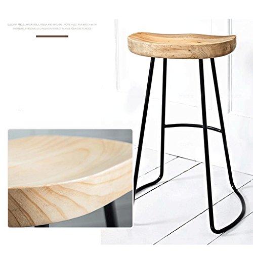 QZz Barhocker Barhocker Massivholz Eisen Barhocker American Retro Barhocker Hochstuhl Coffee Chair ( größe : H450MM - Barhocker Eisen
