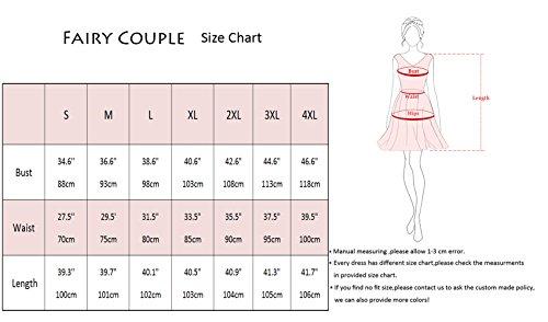 FAIRY COUPLE 50er V-Ausschnitt Rockabilly Polka Blumen Jahrgang Kleid Cocktail DRT072(S,Weiße rote Blumen-Punkte) - 3