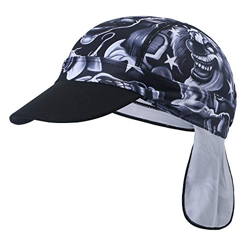 Qkurt Radsport Bandana, Schnell trocken Schädel Kappe UV-Schutz Fahrradkappe Fahrrad Motorrad unter Helm für Männer Frauen (Schädel Kappen, Helme)