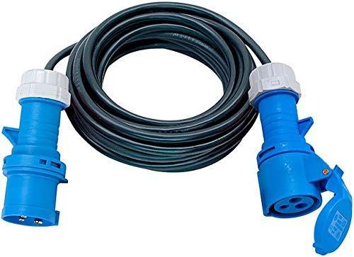 Brennenstuhl CEE 230V Camping-Verlängerungskabel IP44 (25m Kabel, CEE Stecker, Einsatz im Außenbereich) schwarz