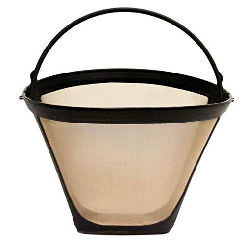 Schützen Tee (FloralLive Kegelform Permanent Kaffee-Filter waschbar Edelstahl Wiederverwendbare Kaffee-Kaffee-Hersteller-Maschine Tee-Werkzeug)