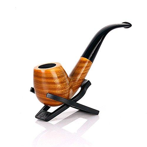 UrChoiceLtd®Classic Brown Ebony 9MM Filterelement Holz Tabak Rauchen Estate Pipe Pipes Ebony Circled Best 508 Für Geschenk (Green Tan) -