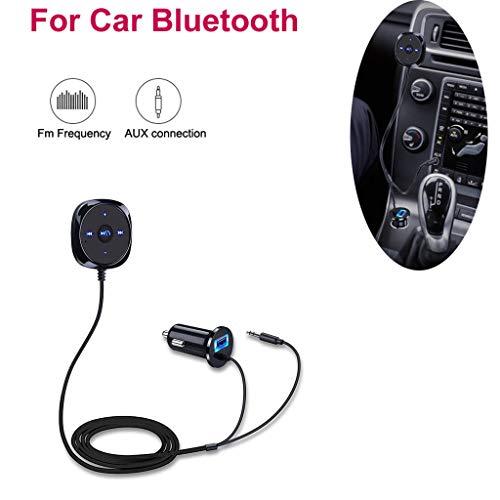 Preisvergleich Produktbild Pzhhzpingg Auto FM Transmitter für Bluetooth Freisprecheinrichtung AUX MP3 Player Radio Adapter Ladegerät (Schwarz)