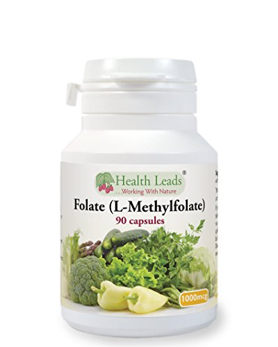 Folate (L-Methylfolate - a Natural form of Folic Acid) 1000mcg x 90 caps Test