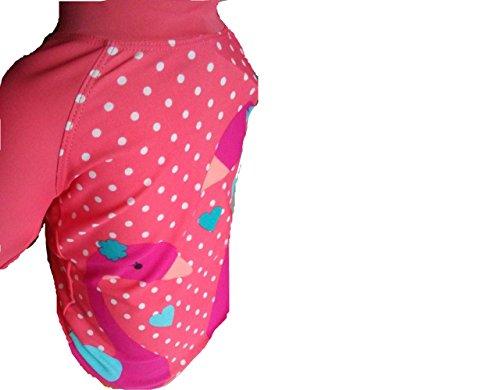 Super neues Schwimmanzug Oberteil pink-weiß gepunktet für ein kleines Mädchen zwischen 7-9 Monaten