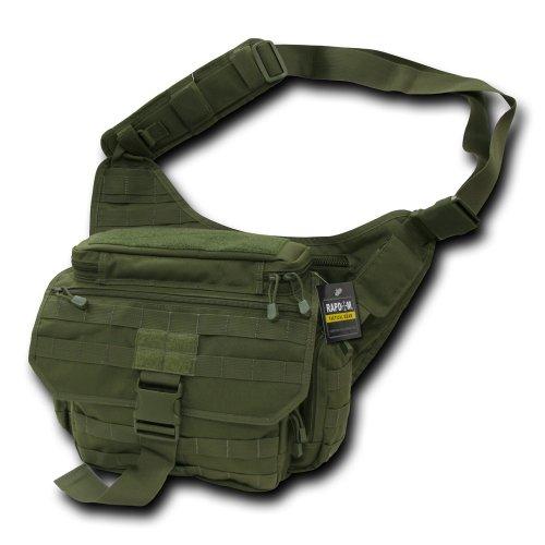 Rapdom Tactical Messenger Bag, Herren, Braunoliv -