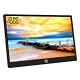 MageDok 4K Portable Monitor with USB Type-C/HDMI/Display Port Input,15.6 Inch,Ultra HD 3840x2160 IPS Display,Ultralight Weight,Stereo Speakers,Mountable