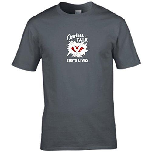 S Tees Herren T-Shirt Grau - Grau