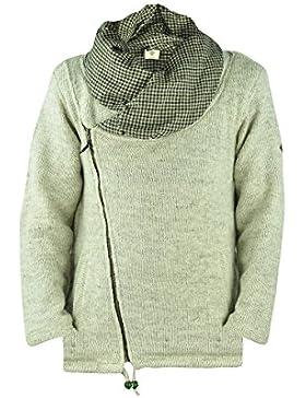 Chaqueta virblatt hombres revestida de lana abrigo de lana con cuello grande en tallas S, M, L, XL Chaqueta de...