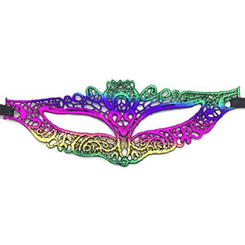 TENDYCOCO Spitze Hälfte Gesichtsmaske Vergoldung Masken Party Kostüm Zubehör für Halloween Karneval Maskerade ()