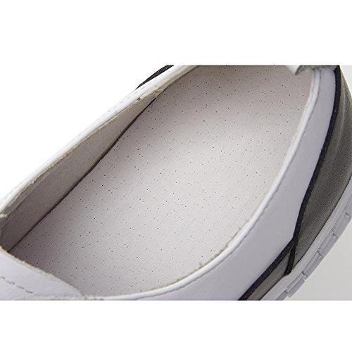 Suola Spessa Piattaforma Donna WSXY-A2807 Velcro classico Tacco Zeppa Piattaforma Fondo,KJJDE grey