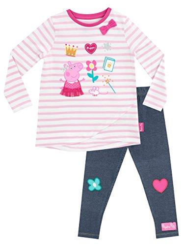 Peppa Pig Conjunto de Top y Leggings para niñas - Peppa - Multicolor - 2-3 Años