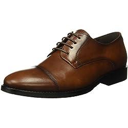 Tienda Calidad A8071C, Zapatos de Cordones Hombre, Marrón (Cuero), 42 EU