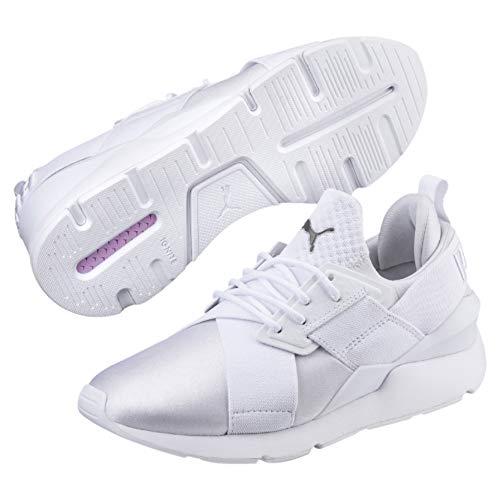 Puma Damen Muse Satin EP WN'S Sneaker, Weiß (Puma White-Puma White 8), 42.5 EU (8.5 ()