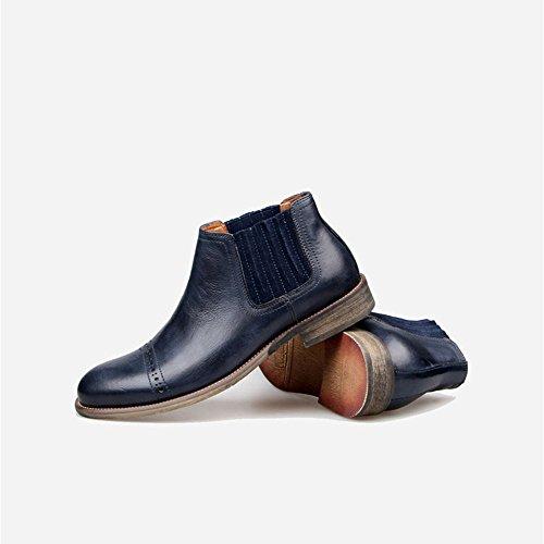 uomini occasionale scarpe, stivali di pelle, chelsea boots e vecchi stivali blue