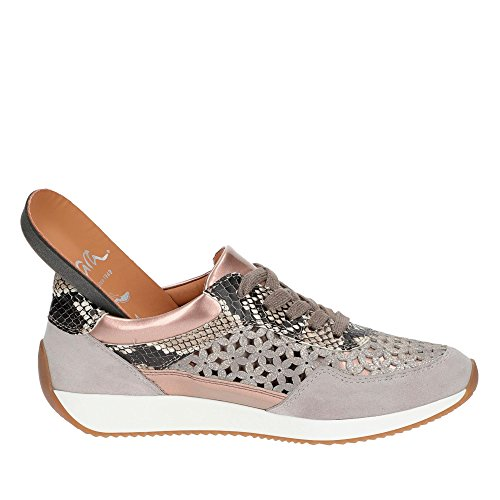 ara Sneaker Grau Lissabon Weiss Damen qrXrwRT
