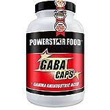 GABA CAPS - Hochdosiert mit 750 mg Gamma-Aminobuttersäure - 120 Kapseln - Ein- und Durchschlafhilfe für besseres Wohlbefinden und schnelle Regeneration - VEGAN - Made in Germany