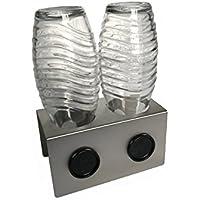 Abtropfhalter 2.0 aus Edelstahl für z.B. Soda-stream Crystal/Source/Easy/Cool Flaschen Flaschenhalter