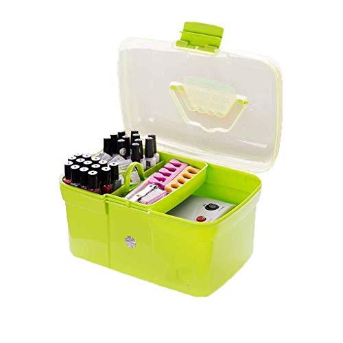 Vkospy VkospyHandheld-Desktop Storage Box Kunststoff Schere Makeup Organizer Schmuck Nagellack-Feder-Behälter-Maniküre-Werkzeug-Kasten -