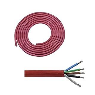Doubleyou Geovlies & Baustoffe Silikonkabel (5 x 2,5 mm²) 3 Meter für Saunaofen von 4,5 bis 9 KW Saunakabel
