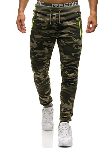 Army Military Pants (BOLF Herren Hose Joggerhose Sporthose Jogger Trainingshose Army Military MUST JX8125 Grün XL [6F6])