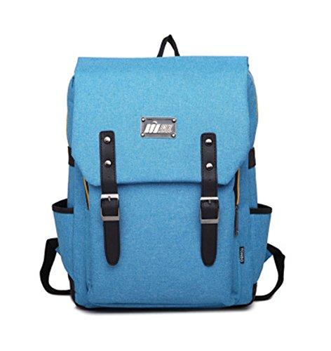 Leinwand Niedlich Damen accessories hohe Qualität Einfache Tasche Schultertasche Freizeitrucksack Tasche Rucksäcke Blau Keshi hEX2W