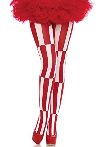 Leg Avenue 7904 - Optical Illusion Pantyhose, Einheitsgröße, weiß rot, 100 ()