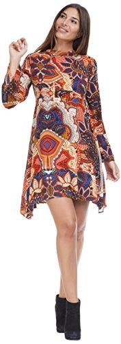 Peace & Love by Calao, Vestito Donna Multicolore