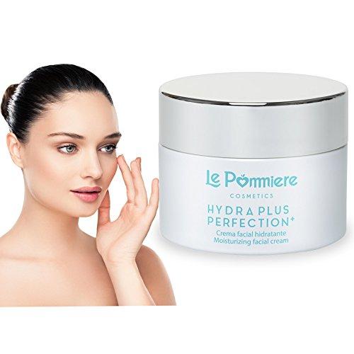 Crema antiedad Premium 1,7oz/50ml con ácido hialurónico y colágeno – Crema antiarrugas con vitaminas A, C y E para una piel tersa y suave– Crema facial con protección solar, elastína y glicerina para una piel más sana