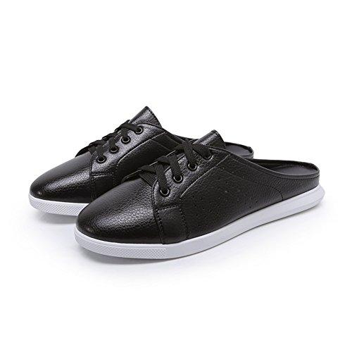 Printemps casual talons bas plat chaussures à baotou/escoge los zapatos A
