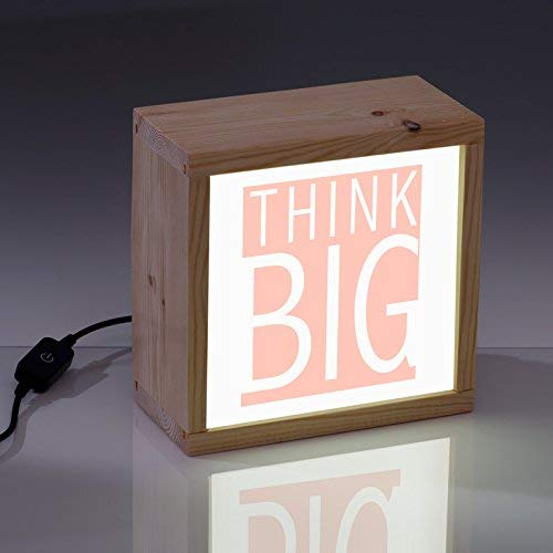 LIGHTBOX CON FRASE. Resulta un mensaje estimulante que podrás leer cada día a la vez que decora e ilumina. Y si te gusta REGALAR, aquí tienes una caja de luz muy original y seguro que triunfas. 📍La caja es de madera, hecha de forma artesanal. 📍El tam...
