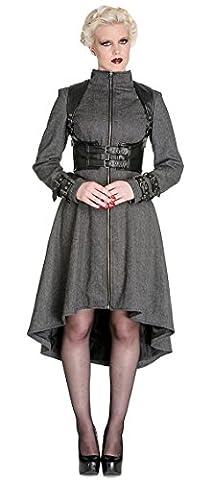 Arwen Dress - Veste grise en laine avec harnais noir