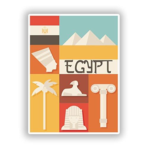 Preisvergleich Produktbild 2x Ägypten Vinyl Aufkleber-Reisen Gepäck # 10120 - 10cm/101mm Wide