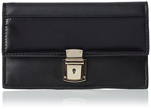french-connection-womens-clean-pu-claire-wallet-black