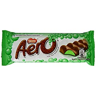 Nestlé AERO Mint Bubbly Bar 36x40g - Schokoladenriegel mit Mint-Flavour