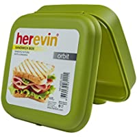 Pequeño plástico merienda de frutas Desayuno Almuerzo Caja de almacenamiento de alimentos con tapa de cierre de clip, caja Sandwich color aleatorio