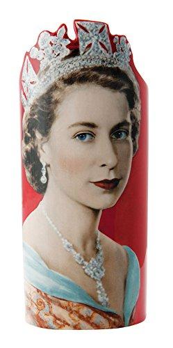 Dartington John Beswick Queen Elizabeth II Dorothy Wilding Keramik Art Vase Höhe:-27,5cm Silhouette d 'art Parastone SDA016