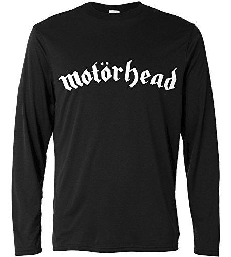 Camiseta de manga larga hombre - Motörhead - text-only - Long Sleeve 100% algondon LaMAGLIERIA, M, Negro