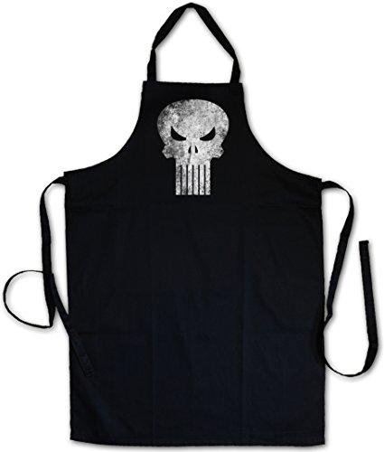 Urban Backwoods Punisher Skull GRILLSCHÜRZE KÜCHENSCHÜRZE KOCHSCHÜRZE SCHÜRZE - Insignia Logo Symbol Hero Comic TV Movie Frank Castle PC Game